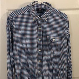 Vineyard Vines gingham slim fit Crosby Shirt L